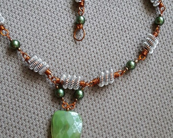 Coiled Beaded Necklace
