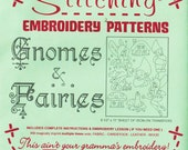 Hand Embroidery Patterns | Sublime Stitching Reusable Iron On Embroidery Pattern, Fantasy, Fairy Garden - Gnomes and Fairies