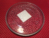 Succulent Plant Clear Hammered Saucer