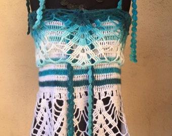 Hand crochet Debardeus