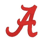 Alabama A Script Embroidery Design (2) Instant Download