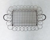 Vintage Farmhouse Wire Bread Basket Metal Farm Basket
