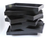 Sample Trays - Nine Jewelry or Craft Display Boxes - Nine textured Paper Covered