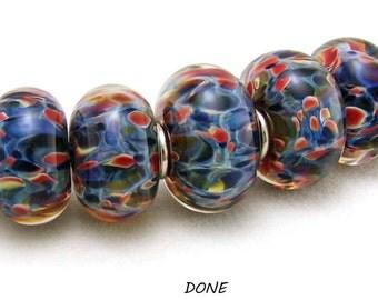 SRA Handcrafted Borosilicate Artisan Lampwork Bead Set - BLUE BAYOU