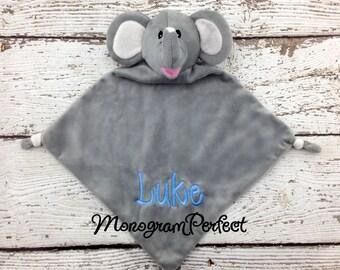 Personalized Elephant Wee Blankie Cuddle Buddie