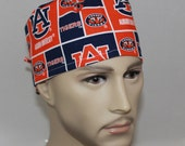 Auburn University, Men's Surgical Scrub Cap, Doctors Scrub Hat, Bikers Hat, Vet