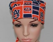 Surgical Scrub Hat, Chemo Hat,Nurses Scrub Hat. Women's Surgical Scrub Hat, Auburn  University