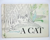 A Cat Story: Told In Pictures by Elliot Gilbert 1963 Vintage Wordless Children's Picture Book