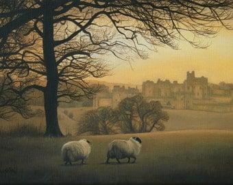 Alnwick Castle - Mounted Print