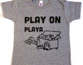 Boy Toddler. PLAY ON PLAYA baby toddler kids shirt. Funny Toddler Tee.  Kids Clothes. Boys Onesies. Funny baby gifts. Boys Tees.