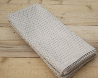Linen/cotton blended waffle towel, Waffle weave towel, Bath towel, Linen bath sheet, Natural organic linen towel