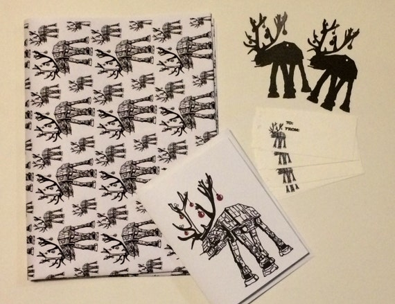 Star Wars ATAT Reindeer Wrapping Paper