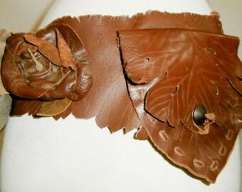Leather and Leaf Hip Pocket Belt