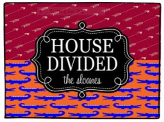 House Divided Personalized Door Mat Alligator Spears Doormat