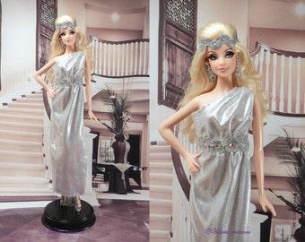 Greek style dress for barbie doll