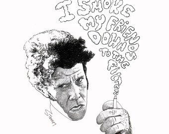 Tom Waits Original Illustration Art Print