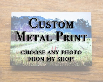 Custom Metal Print, Choose any photo from my gallery!