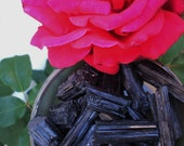 4 Black Tourmaline Rough Cut Rods - Crystal, Banishes Negative Thoughts, Protects, Sheilds, Aura Cleansing, Grounding, Anti Anxiety, Panic