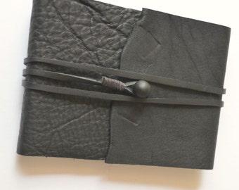 Black Leather Notebook Planner Art Sketchbook THINLINE Bound Journal (513)