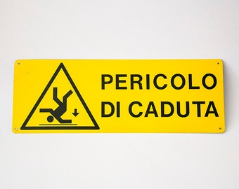 Vintage Italian metal sign 1990s
