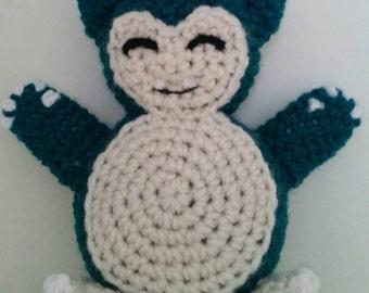 LWC Crochet Pokemon Inspired Snorlax Wrist Pillow Plush
