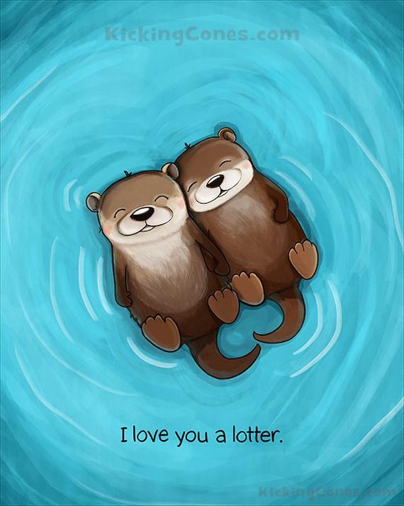 I Love U cute Baby Wallpaper : I Love You a Lotter 8x10 Digital Print