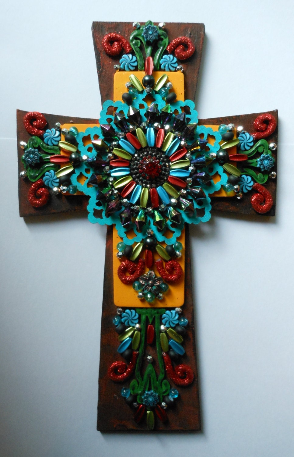 Wall cross crosses cross christmas gifts one of a kind wall for Cross wall decor ideas