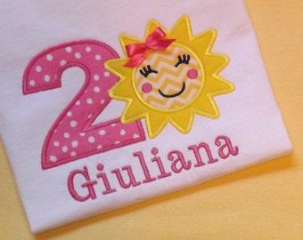 Sunshine Birthday T-shirt or Bodysuit