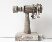 ON SALE Bracelet Holder - Made from Architectural Salvage Spindle - Recycled Wood - Retail Jewelry Display - Shabby Chic