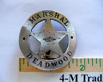 Marshal Deadwood Badge