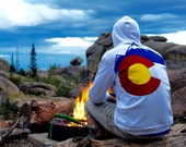Colorado hoodie NEW Snow MTNS Team White Flag custom Hoodie  3 layer sewn flag zippered sweatshirt jacket sweater