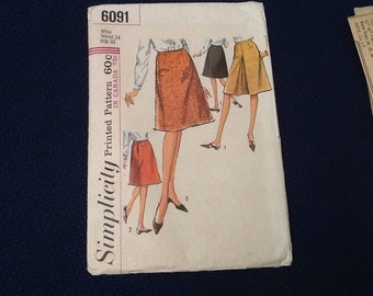 Simplicity 6091 skirt pattern