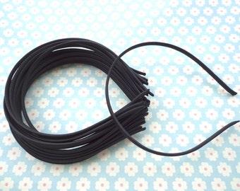 SALE--50pcs Black Cloth Covered Metal Headband 5mm Wide