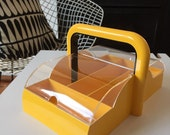 Guzzini Papillon Yellow Plastic Cutlery Tray