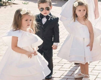 Couture Flower Girl Dress - Girls Dress - Haute Couture - Wedding Dress by Isabella Couture