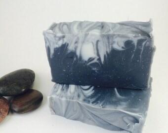 Lavender Tea Tree - Cold Process Soap - Activated Charcoal - detoxifying soap- facial soap- handmade soap