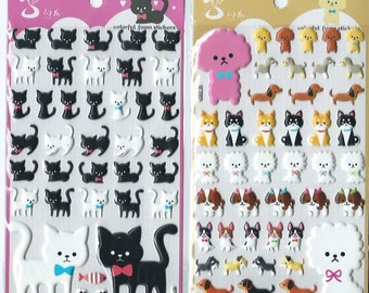 Japanese / Korean Stickers (Pick 1) - Cats or Dogs