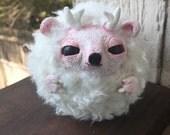 Cute Little Horned Creature - OOAK Art Doll