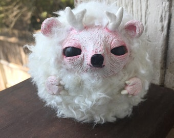 Cute Little Horned Creature - OOAK Art Doll