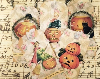 Vintage-Style Halloween Gift Tag/Ornament