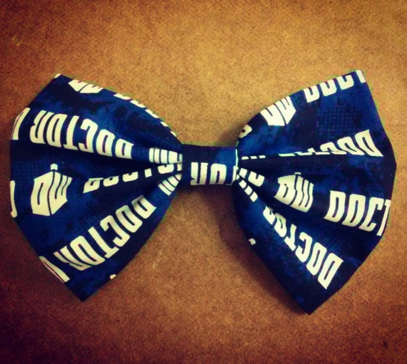 Blue Doctor Who Hair Bow