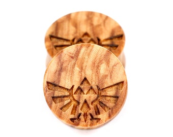 Handmade Triforce Olivewood plugs