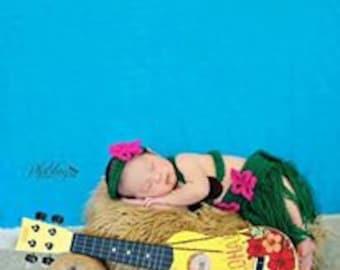 Crochet Hula Girl Photo Prop