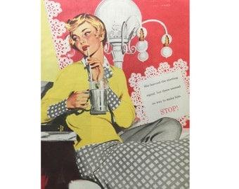 Soda Fountain Art - Magazine Illustration - 1950
