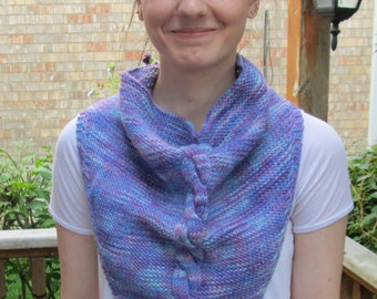 KNITTING PATTERN: Twisted Candle Bandana, Instant PDF Download