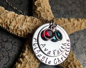 Personalized Mother's Necklace Great Gift for Mom or Grandma Mother's Day Idea