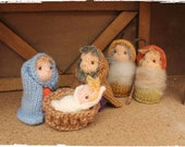 Nativity set, knitting pattern PDF