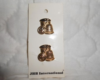 Gold Tone Metal Sewing Buttons by JHB