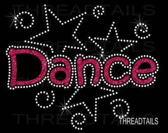 Dance T-shirt.  Glitter and Rhinestone shirt.  Gift idea, Dancers, coach, recitals, practice, dancewear, competitive events clothing, tops.