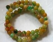 6 mm Watermelon Jade Round Beads
